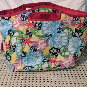 Lilly Pulitzer insulated beverage bucket bag